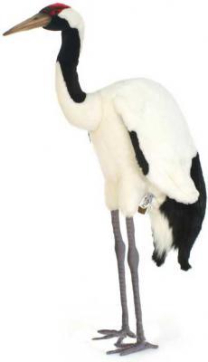 Мягкая игрушка журавль Hansa Японский журавль искусственный мех белый 72 см 5720