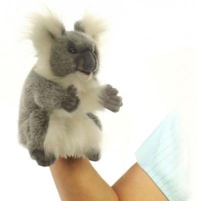 Мягкая игрушка коала Hansa Коала искусственный мех пластик синтепон белый серый 24 см 4030