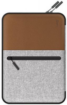 """Чехол для ноутбука MacBook Pro 13"""" LAB.C Pocket Sleeve искусственная кожа коричневый LABC-450-BR цена и фото"""
