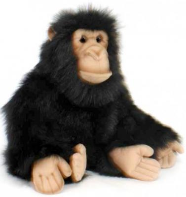 Мягкая игрушка шимпанзе Hansa Шимпанзе искусственный мех синтепон черный 25 см 2306