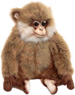 Мягкая игрушка обезьянка Hansa Обезьяна из парка Аффенберг искусственный мех синтепон рыжий коричневый 15 см 6319