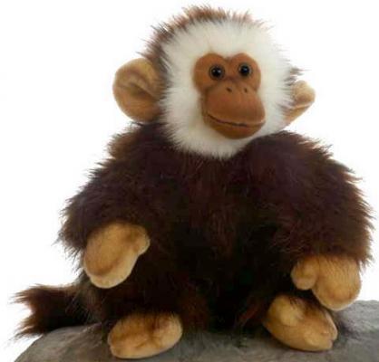 Мягкая игрушка обезьянка Hansa Обезьянка искусственный мех синтепон разноцветный 28 см 2833