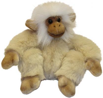 Мягкая игрушка обезьянка Hansa Обезьянка сидящая палевая искусственный мех синтепон бежевый 20 см 2838
