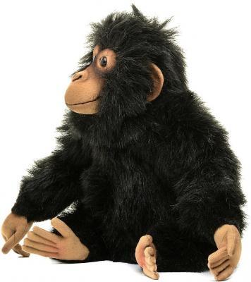 Мягкая игрушка шимпанзе Hansa Шимпанзе искусственный мех синтепон черный 24 см 4960