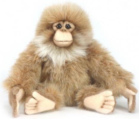 Мягкая игрушка обезьянка Hansa Обезьяна искусственный мех синтепон коричневый 15 см 3562