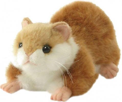 Мягкая игрушка хомячок Hansa Хомячок синтепон искусственный мех белый рыжий 17 см 3738