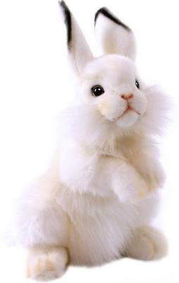 Мягкая игрушка кролик Hansa Белый кролик искусственный мех синтепон белый 32 см 3313 мягкая игрушка собака hansa собака породы чихуахуа искусственный мех синтепон коричневый белый 31 см 6501