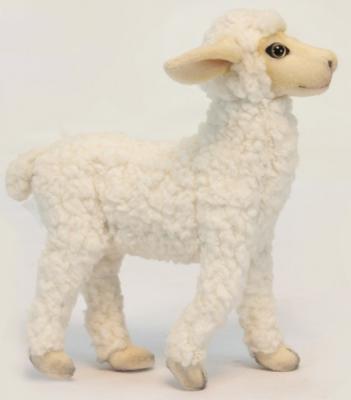 Мягкая игрушка барашек Hansa Баран стоящий искусственный мех белый 28 см 5759