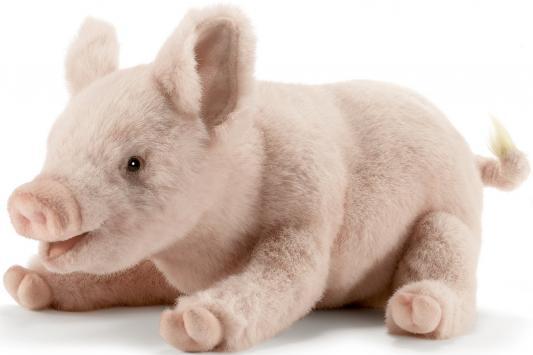 Мягкая игрушка свинка Hansa Свинка искусственный мех розовый 28 см 4944 игрушка мягкая свинка 15см