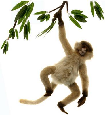 Мягкая игрушка обезьянка Hansa Паукообразная обезьяна искусственный мех синтепон рыжий коричневый 44 см 3934П