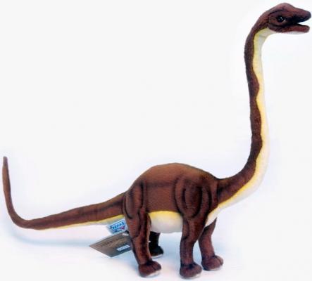 Мягкая игрушка динозавр Hansa Маменчизавр плюш синтепон коричневый 62 см 5876