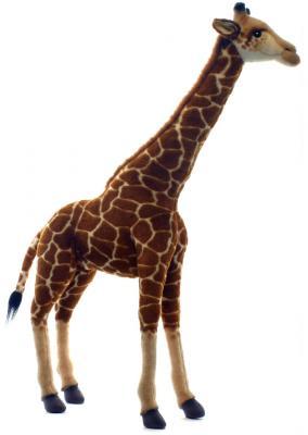 Мягкая игрушка жираф Hansa Жираф пластик текстиль искусственный мех синтепон разноцветный 70 см 5256 мягкая игрушка собака orange чихуа kiki малиновый блеск текстиль искусственный мех розовый коричневый 25 см ld010