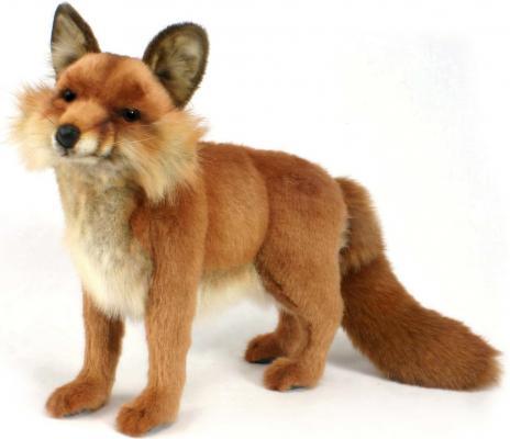 Мягкая игрушка лисица Hansa Рыжая лисица искусственный мех синтепон рыжий 40 см 4699 мягкая игрушка собака hansa собака породы чихуахуа искусственный мех синтепон коричневый белый 31 см 6501