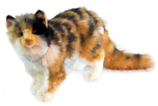 Мягкая игрушка кошка Hansa Кошка Бетти искусственный мех синтепон пластик разноцветный 62 см 6966 мягкая игрушка hansa лисица 53 см 6990