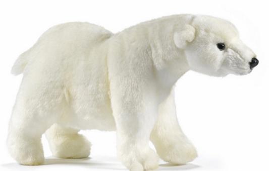 Мягкая игрушка медведь Hansa Медведь идущий искусственный мех белый 27 см 4768