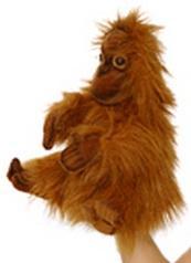 Мягкая игрушка орангутанг Hansa Малыш орангутанг искусственный мех синтепон коричневый 4038