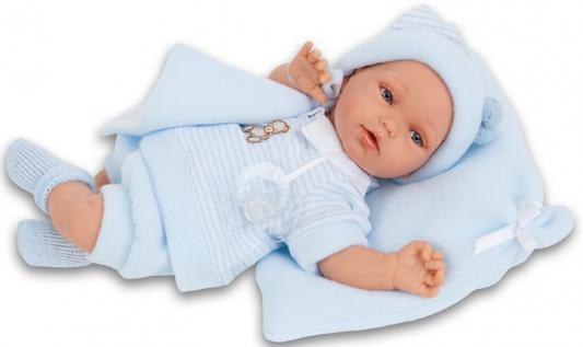Кукла-младенец Munecas Antonio Juan Марти в голубом 29 см со звуком 1776B