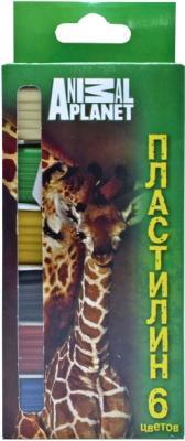 Пластилин ACTION! ANIMAL PLANET, 6 цв, 120 гр, карт.уп. с е/подвесом, со стеком