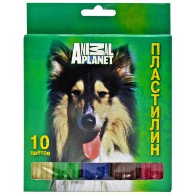 Купить Пластилин Action! ANIMAL PLANET 10 цветов AP-MC10-200, Наборы для лепки из глины