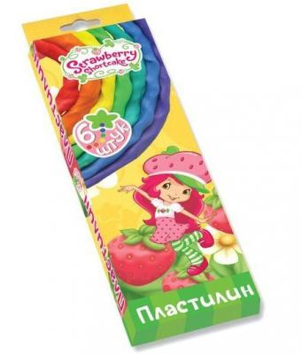 Набор пластилина Action! STRAWBERRY SHORTCAKE 6 цветов SW-MC6-60 мелки для асфальта action strawberry shortcake 6 штук от 3 лет sw cca 6