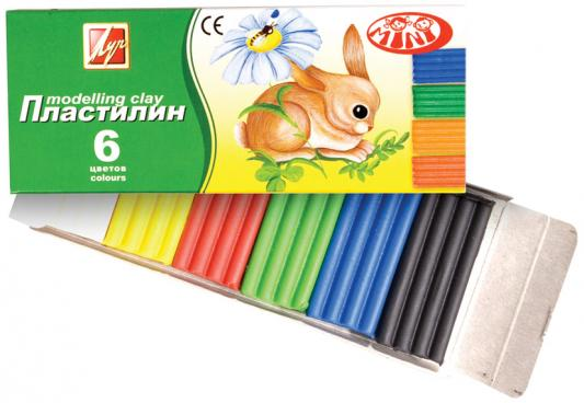 Пластилин Луч ЗОО 6 цветов 19С1271-08 пластилин луч кроха 5 цветов 25с1557 08