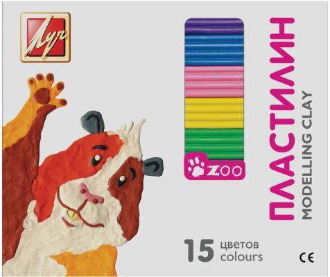 Пластилин Луч ЗОО 15 цветов 20С1357-08 пластилин луч 12c 784 08 12с784 08 11 цветов