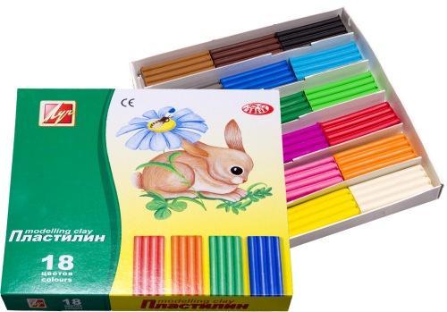 Пластилин Луч ЗОО 18 цветов 20С1358-08 пластилин луч кроха 5 цветов 25с1557 08