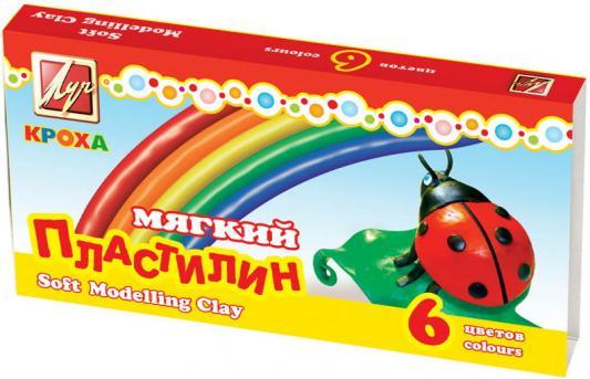 Пластилин Луч КРОХА 6 цветов 12С863-08 пластилин луч кроха 5 цветов 25с1557 08