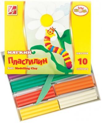 Пластилин КРОХА мягкий, 10 цв.