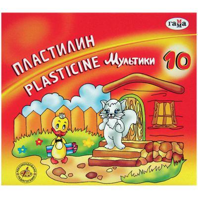 Пластилин МУЛЬТИКИ со стеком, 10 цв., 200 г пластилин гамма страна эльфов перламутровый со стеком 6 цв карт уп 60 г