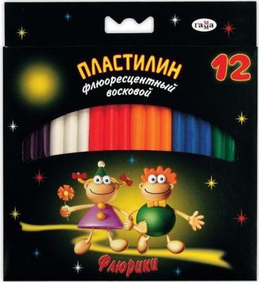 Пластилин Гамма ФЛЮРИКИ 12 цветов 280037Н