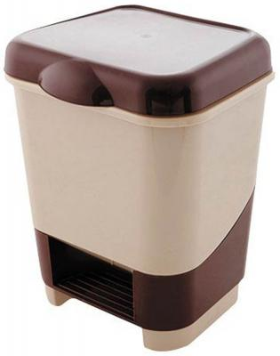 Контейнер для мусора с педалью, 8 л, пластик 4342700 аптечка полимербыт 6 5 л с вкладышем