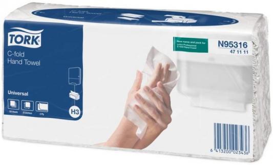 Полотенца бумажные TORK SINGLEFOLD, C-сложения, Н3, 120 л, 2-сл., 24х27,5 см, натур. белые 471111-01/K