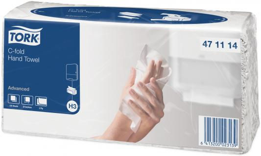 Полотенца бумажные TORK SINGLEFOLD, C-сложения, Н3, 120 л, 2-сл., 24х27,5 см, белые