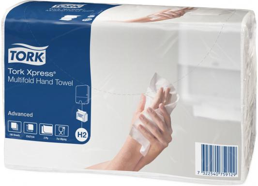 Полотенца бумажные TORK Xpress, H2, сложения Multifold, 2-сл., Z-сложение, 23,4х21,3 натур., 190 л 471103 полотенца бум belux z сложения белые 2х сл 200л 16шт 2488