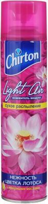 Освежитель воздуха Эврика Эллас АО Chirton Light Air Нежность цветка лотоса 300 мл сухое распыление 645583 бытовая химия chirton освежитель воздуха rio дыня 300 мл