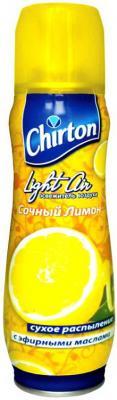 Освежитель воздуха CHIRTON LIGHT AIR Сочный лимон, 300 мл, сухое распыление 645620 бытовая химия chirton освежитель воздуха rio дыня 300 мл
