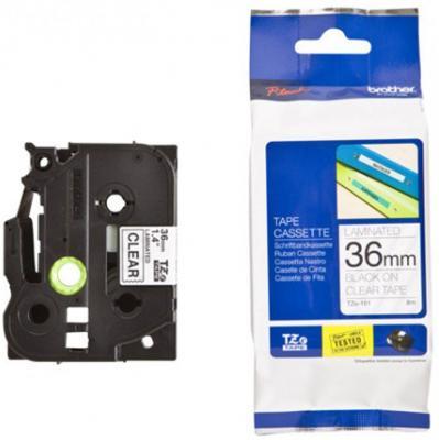 Лента ламинирования Brother TZe-161 36ммх8м черный на прозрачном brother tze325 black white лента для матричного принтера 9 мм