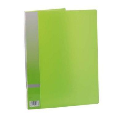 Папка с прижимным механизмом, ф. А4, цвет зеленый, материал полипропилен, вместимость 120 листов 0410-0015-04