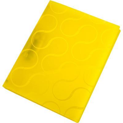 Папка с прижимным механизмом OMEGA, ф. А4, цвет желтый,материал полипропилен, плотность 450 мкр 0410-0040-06