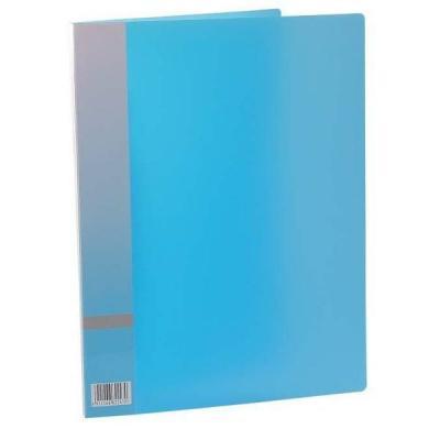 Папка с прижимным механизмом, ф. А4, цвет голубой, материал полипропилен, вместимость 120 листов 0410-0015-03