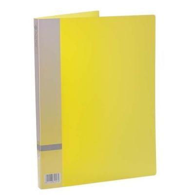 Папка с прижимным механизмом, ф. А4, цвет желтый, материал полипропилен, вместимость 120 листов 0410-0015-06
