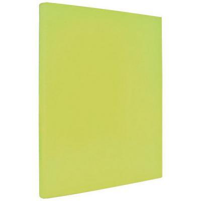 Папка с прижимным механизмом ламинированная, желтая IND PR ЖЕЛ