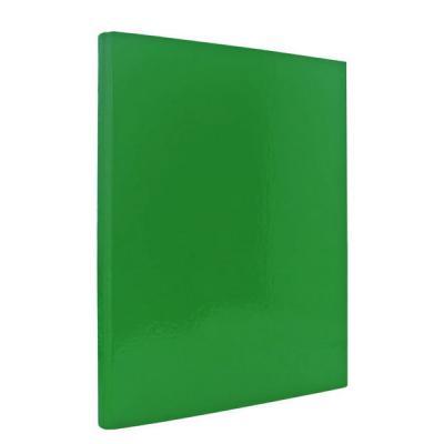 Папка с прижимным механизмом ламинированная, зеленая IND PR ЗЕЛ