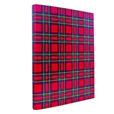 Папка с прижимным механизмом ламинированная, шотландка IND PR ШОТ