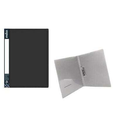 Папка с прижимным механизмом METALLIC, черная ICF02/10/BK