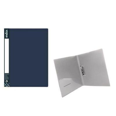 Папка с прижимным механизмом METALLIC, синяя ICF02/10/BU