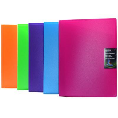 Папка с 10 файлами COLOURPLAY, ф.A4, 0,6мм, прозрачная, ассорти ICPD10/ASS точилка index ish001 пластик ассорти