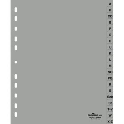 Durable Разделитель пластиковый, A-Z, ф. А4, серый