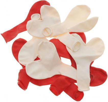Набор шаров Action! Сердечки красные и белые 10 шт API0043/M